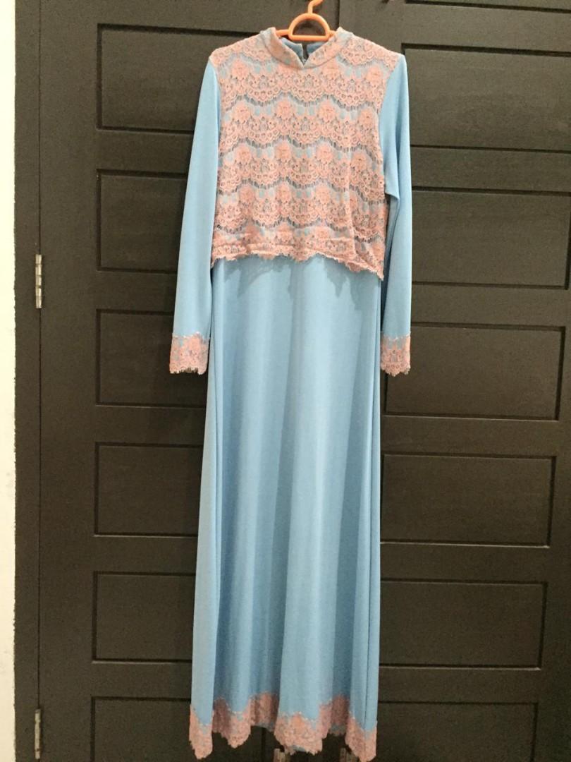 Baju Gamis Simple Fesyen Wanita Muslim Fashion Gaun Di Carousell