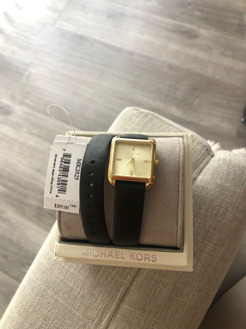 Black Michael kors double wrap classic watch - Brand new with tag