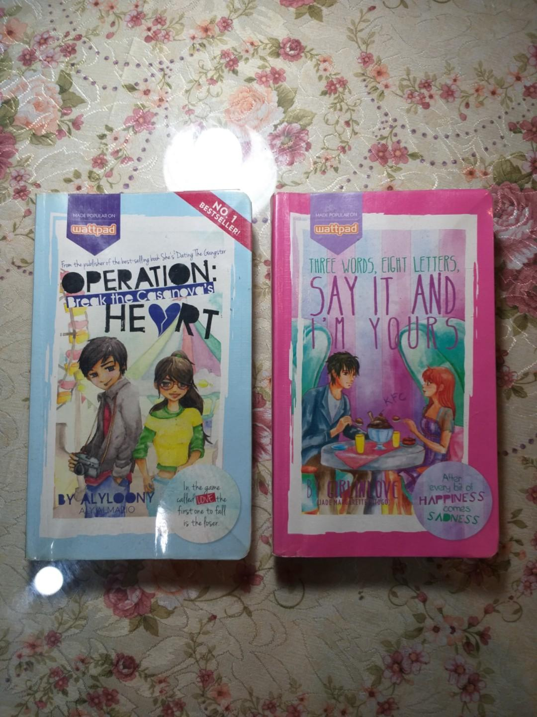 Book bundles: Operation: Break the Casanova's Heart & Three Words, 8 Letters, Say It and I'm Yours