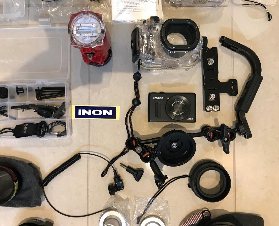 Canon S100 Inon Underwater Camera Kit Macro strobe snoot not Nikon
