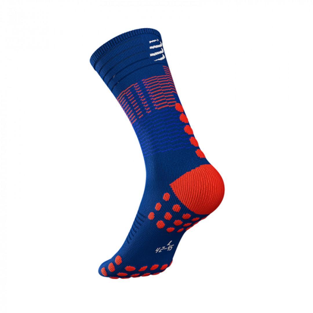 COMPRESSPORT Mid Compression Socks - Blue Size T2 #Balance