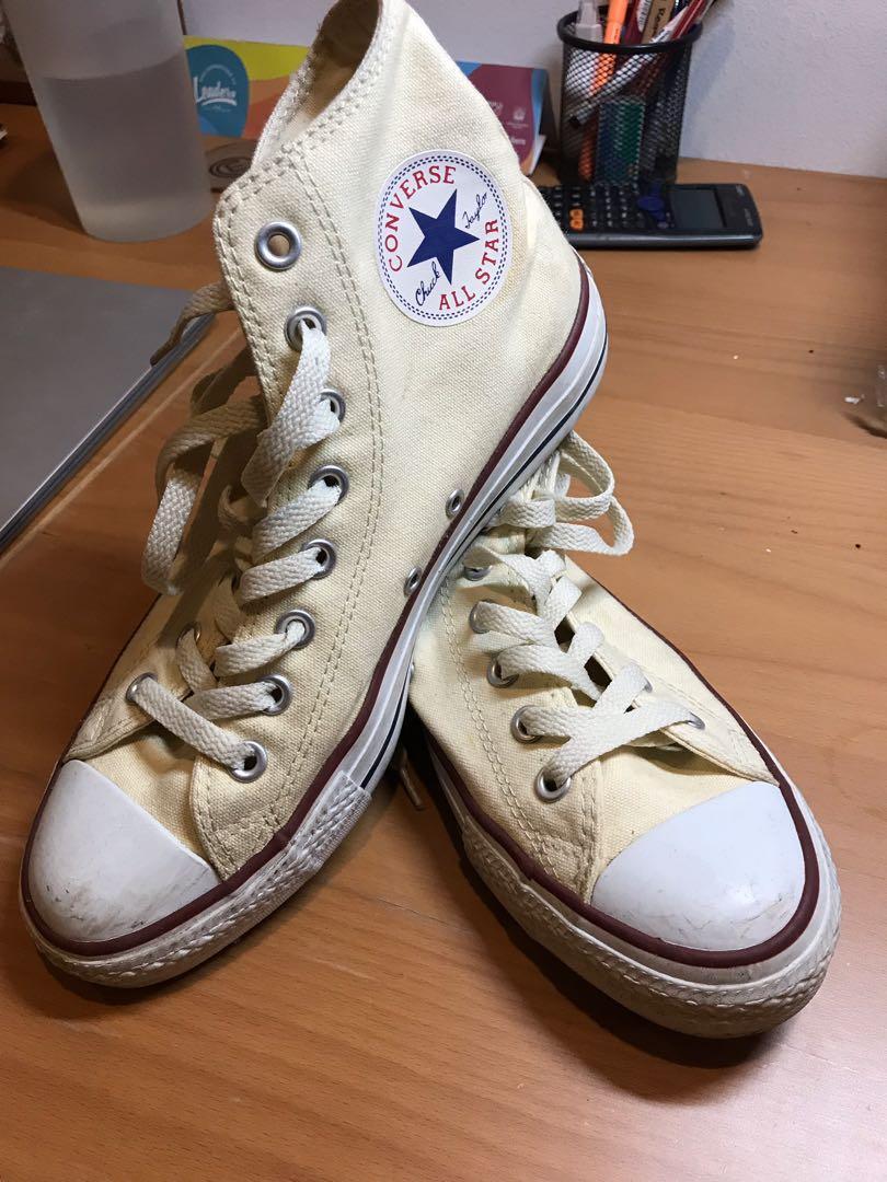 Star High Cut Sneakers (Cream Color