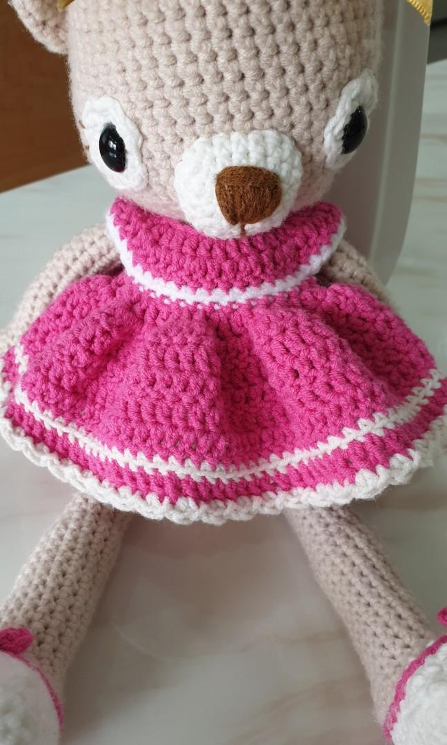 Dreamy baby bear girl doll crochet