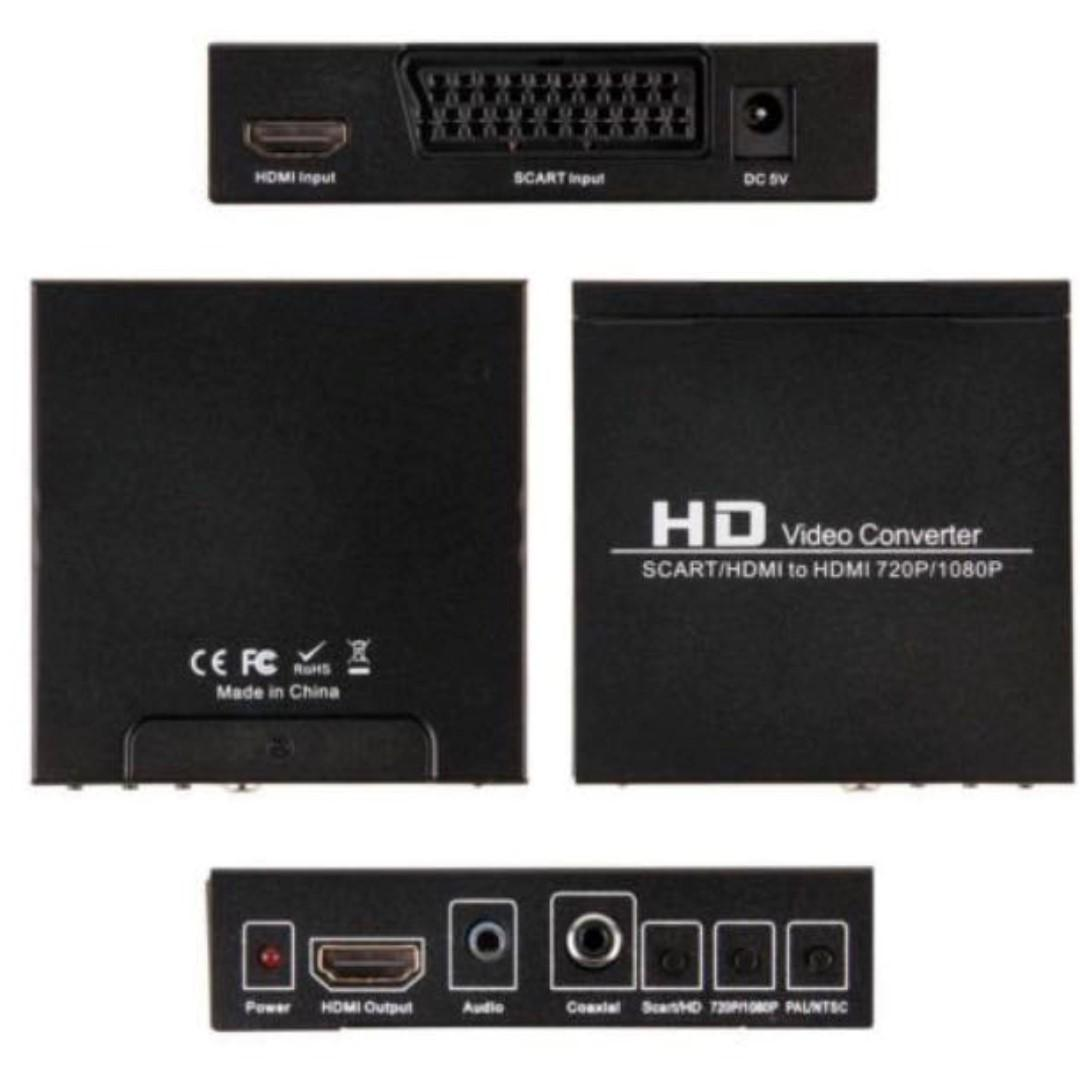 E1482) Scart/HDMI to HDMI 720P 1080P HD Video Converter