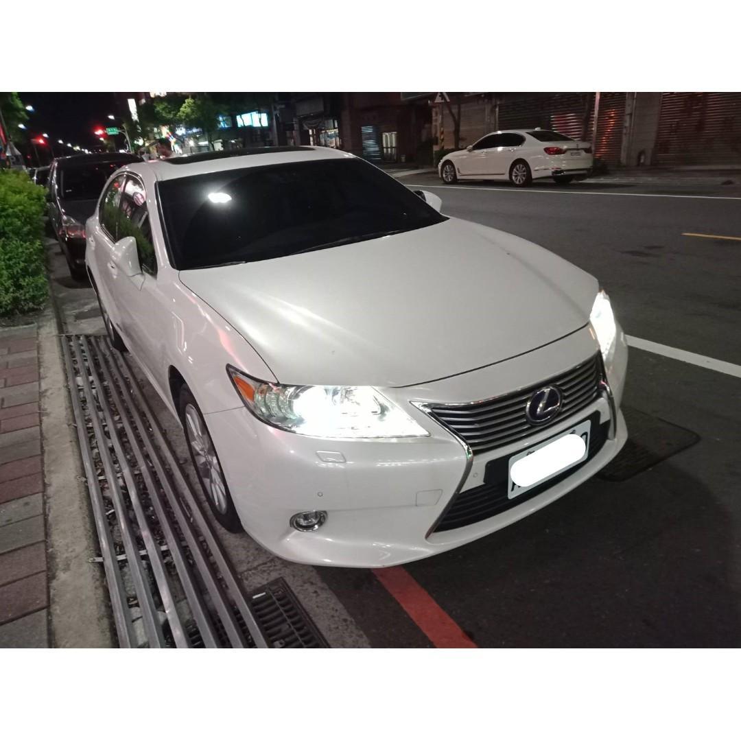 【FB搜尋桃園阿承】凌志 超人氣ES300H跑7萬 2014年 2.5 白色 二手車 中古車