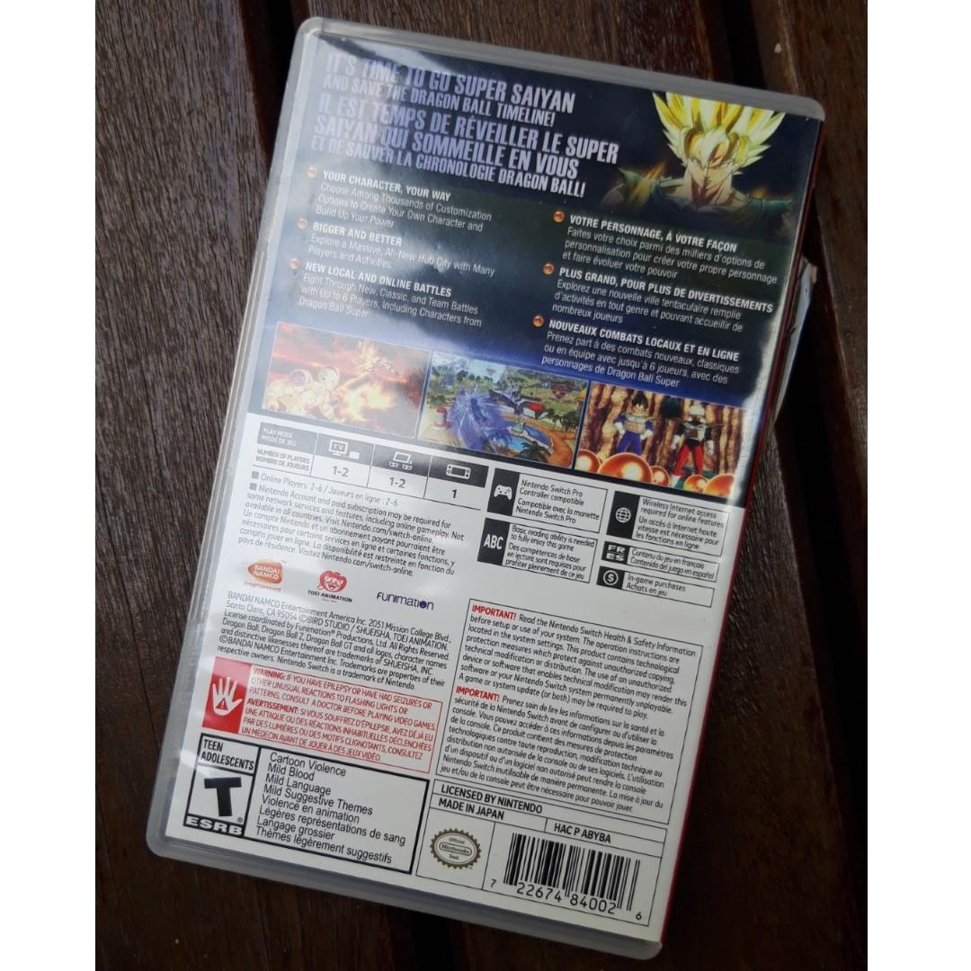 Game Nintendo Switch DRAGON BALL XENOVERSE 2