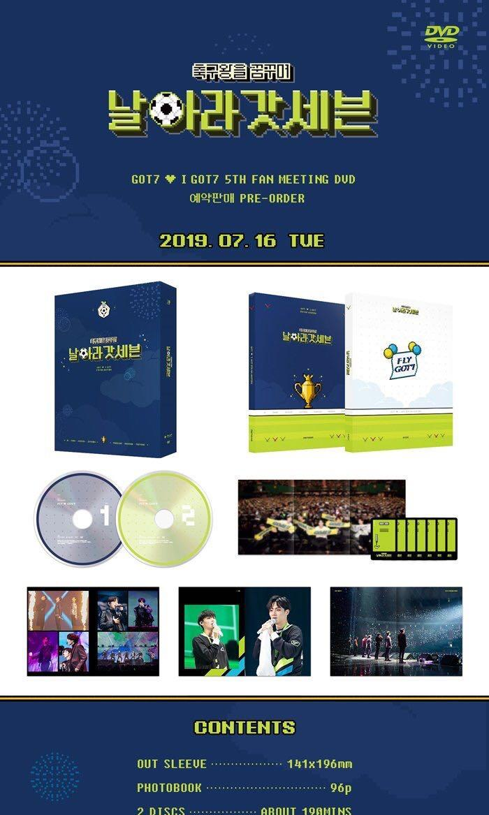 GOT7 - Got7 💚 iGot7 5th Fan Meeting (Dreaming of The Soccer King 'Fly GOT7) DVD