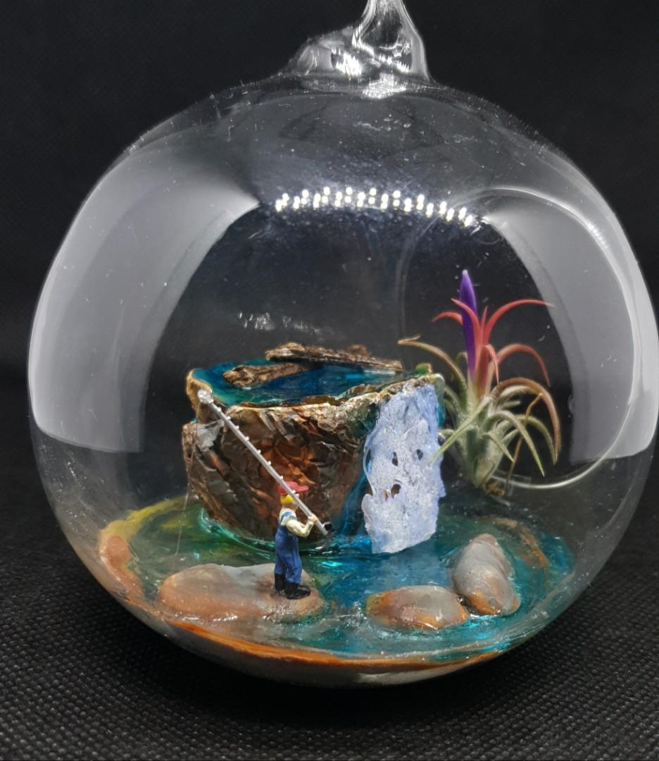 Handcrafted tabletop sealandscape miniature garden