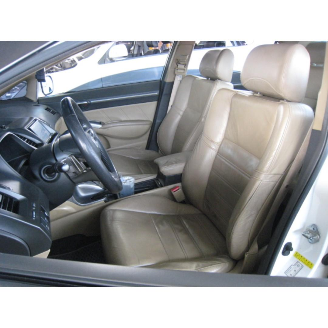 HONDA 08年-CIVIC 白色 漂亮車 限時優惠只到月底 非泡水.重大事故.調錶車 超貸全額貸99%過件!