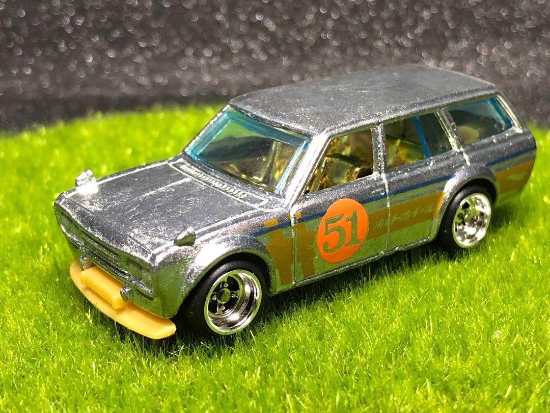 Hot Wheels Factory Custom Satin Zamac 51 Datsun 510 Wagon