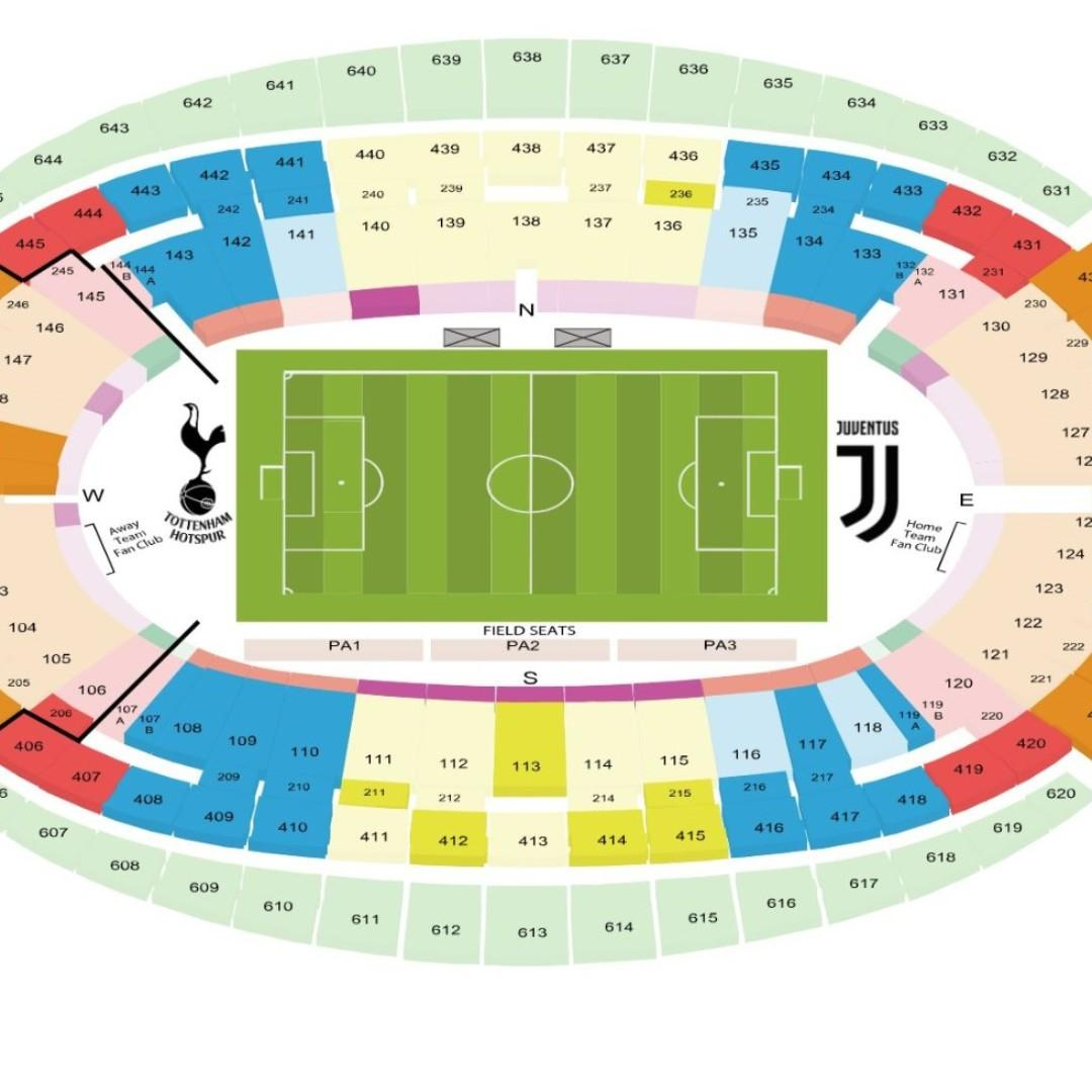 Icc Cup 2019 Cat 2 Juventus Vs Tottenham Hotspur 21st July 2019 Entertainment Events Concerts On Carousell