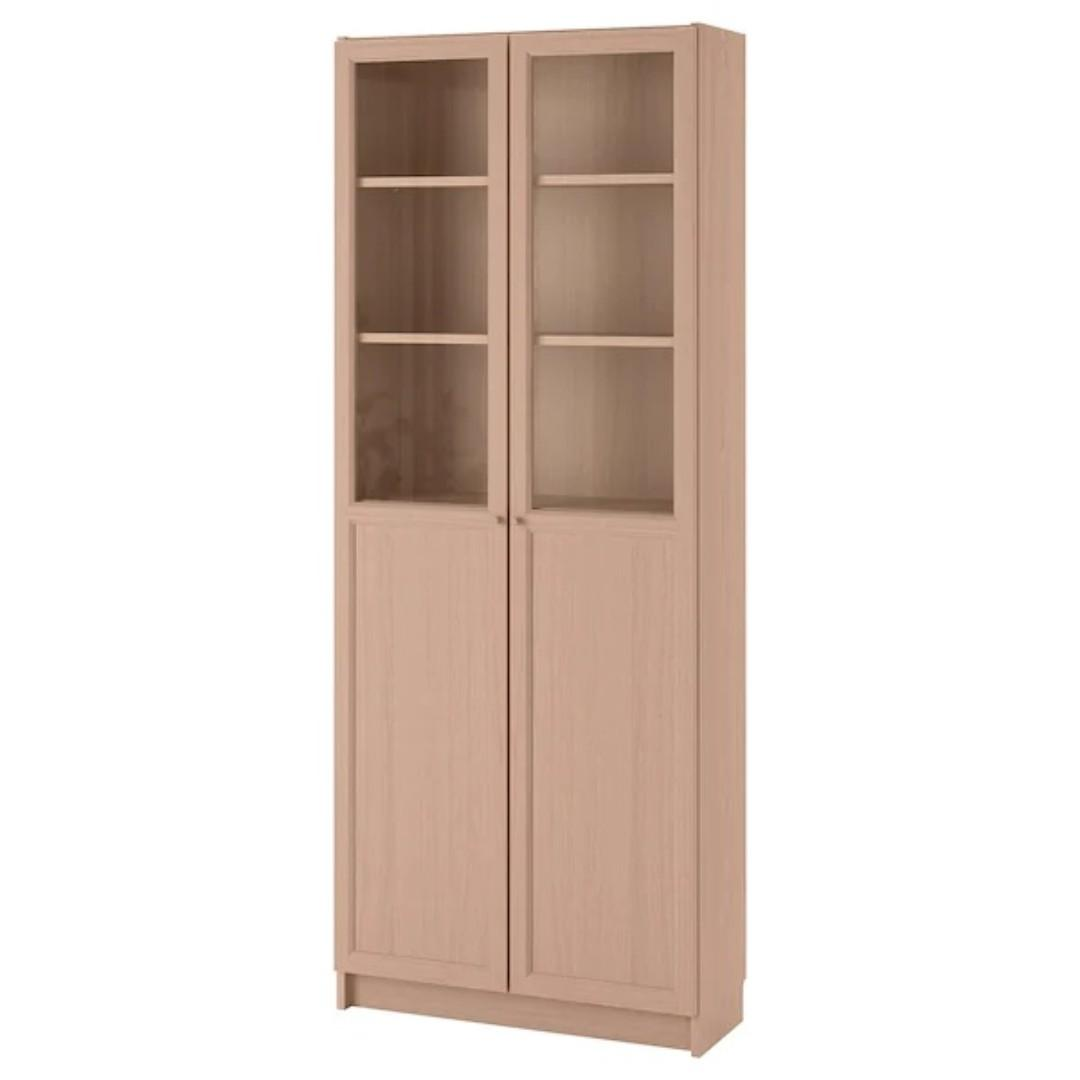 Ikea Billy Bookcase With Panel Glass Doors Furniture