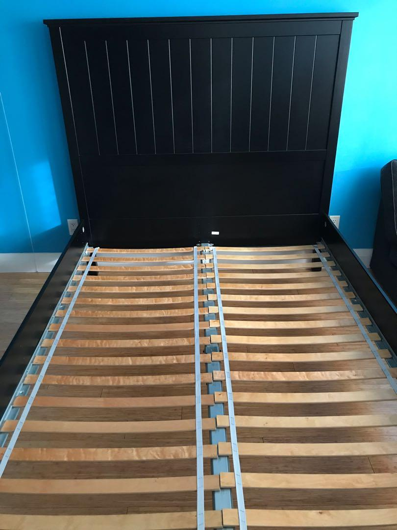 IKEA Used Undredal Queen Bedframe with Luroy Slatted Bed Base