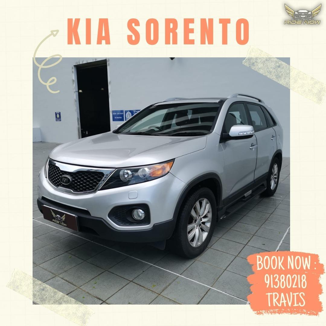 Kia Sorento 2.4A 7 Seater SUV Spacious SUV with Seat Capacity of 7. Perfect for Sporty Family Outings!