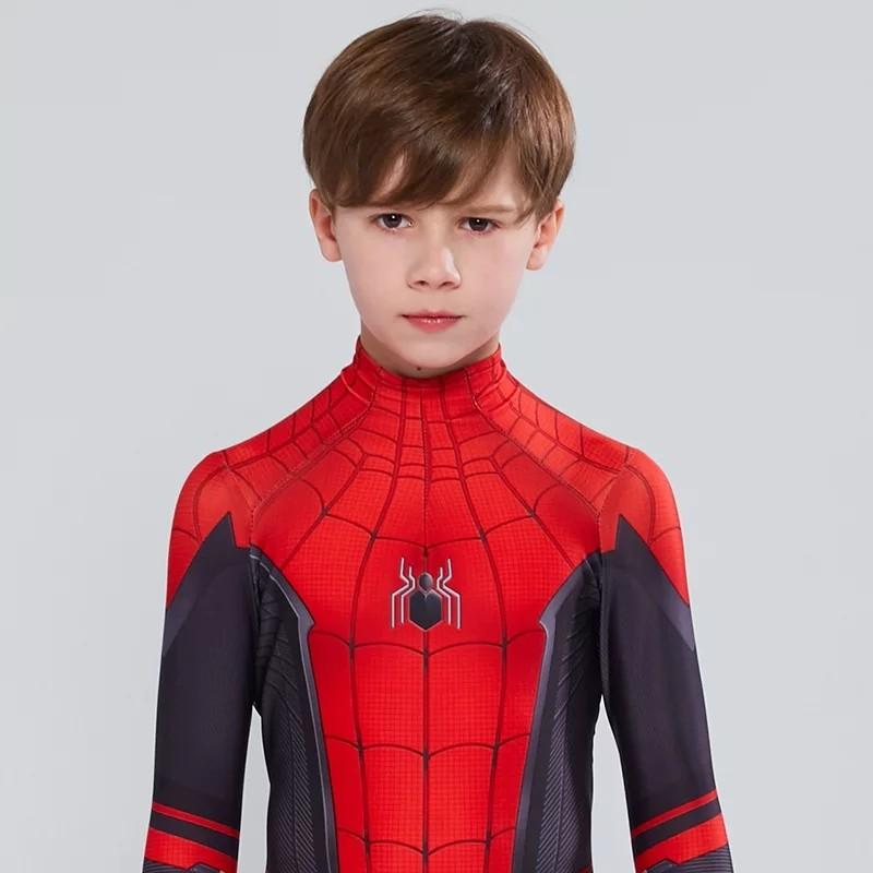 Kids Spider Man Far From Home Peter Parker Cosplay Costume