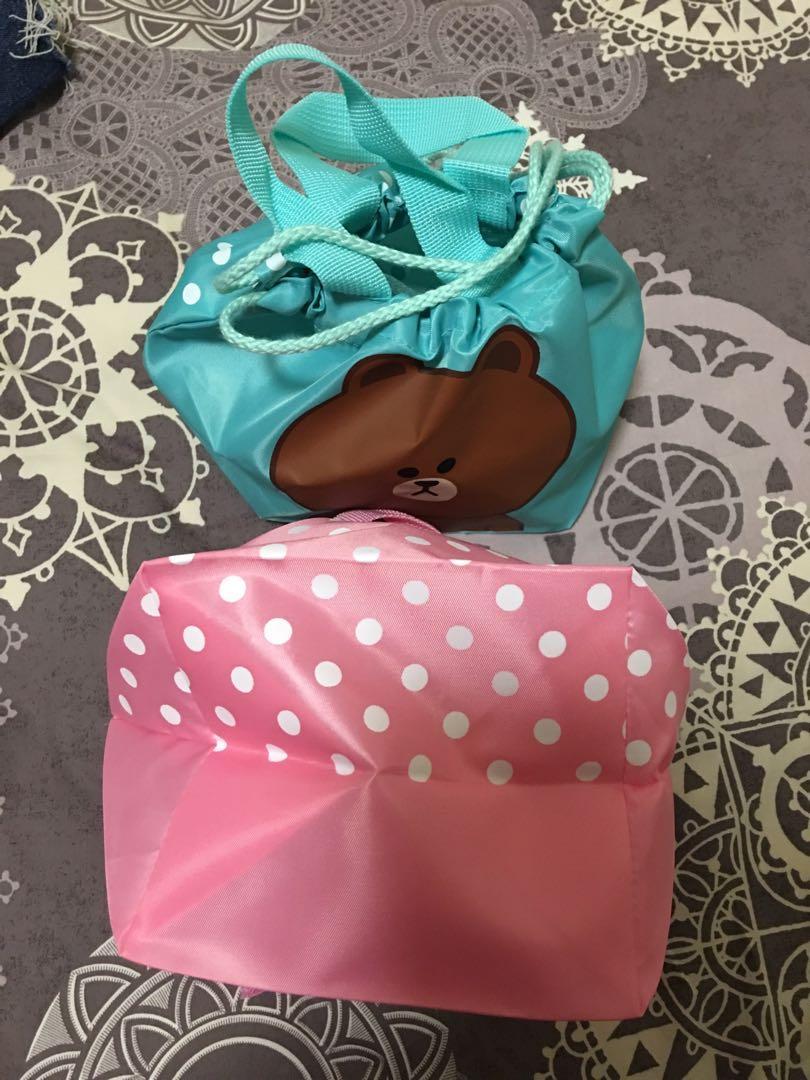 Line 熊大兔兔飯盒索繩袋