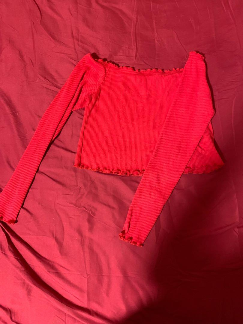 Long sleeve crop top (M)