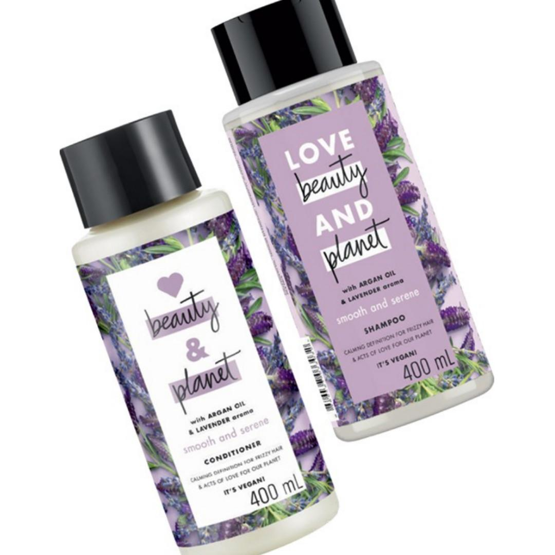Love Beauty and Planet Argan Oil and Lavander Shampoo and Conditioner