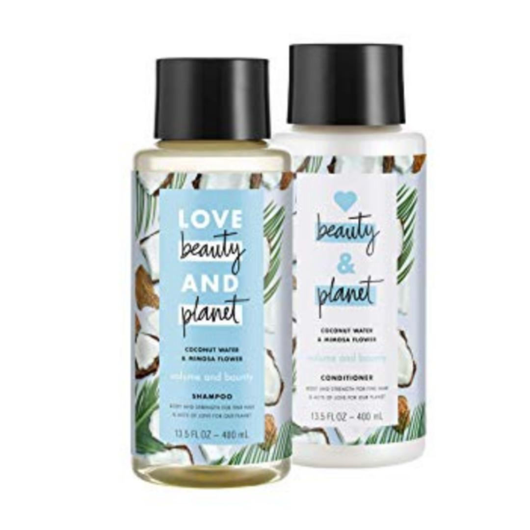 Love Beauty and Planet Volume and Bounty Coconut Shampoo and Conditioner