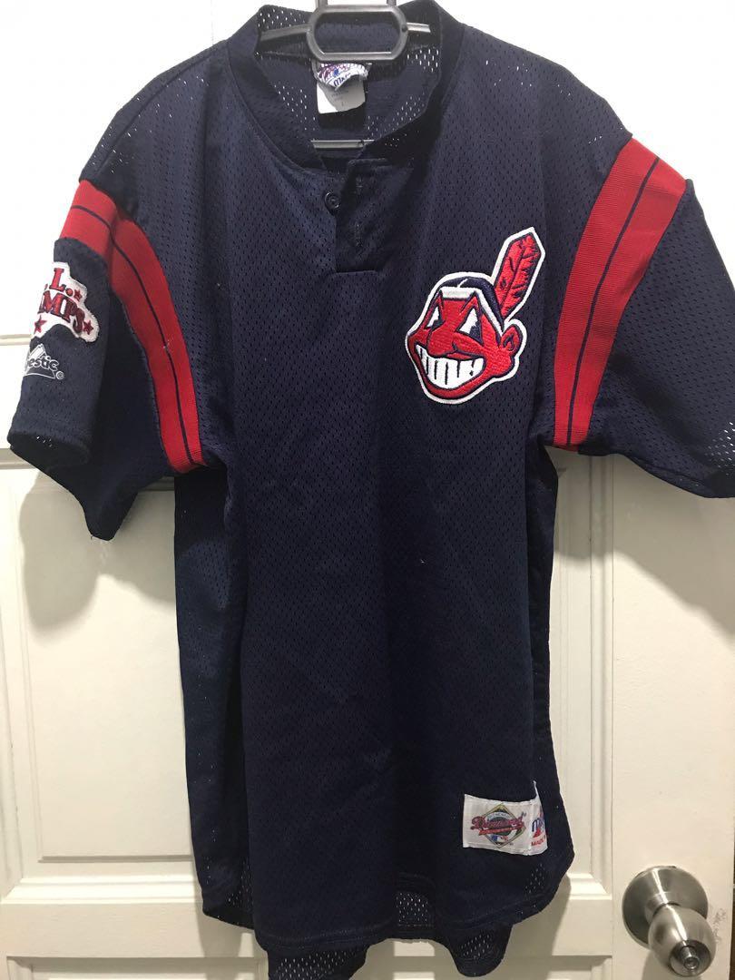 super popular 0811c b7b18 MLB Cleveland Indians 2-button Jersey, Men's Fashion, Men's ...
