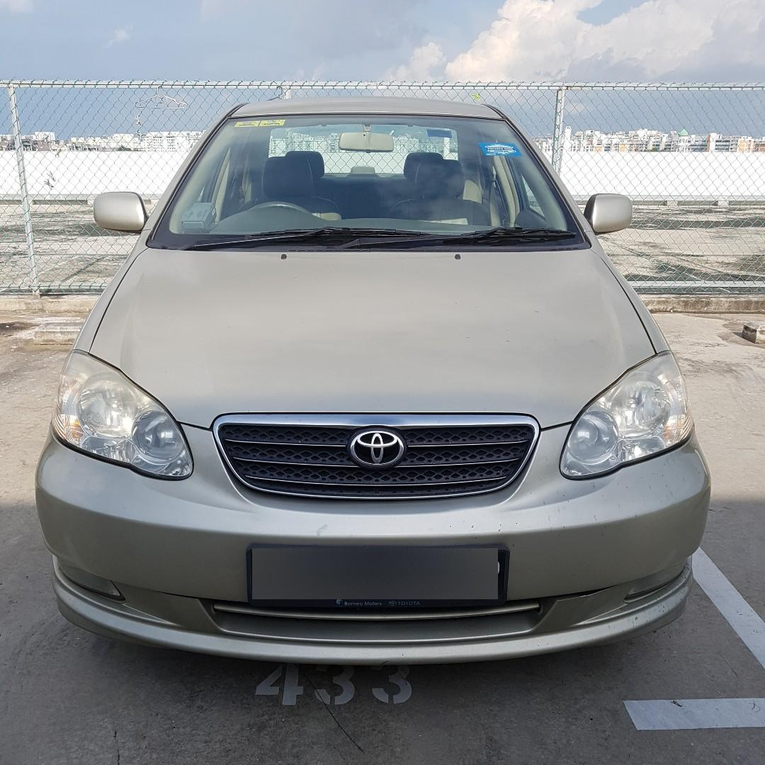 Toyota Altis available for rent 3am onwards - 8pm (Grab / Gojek) ready