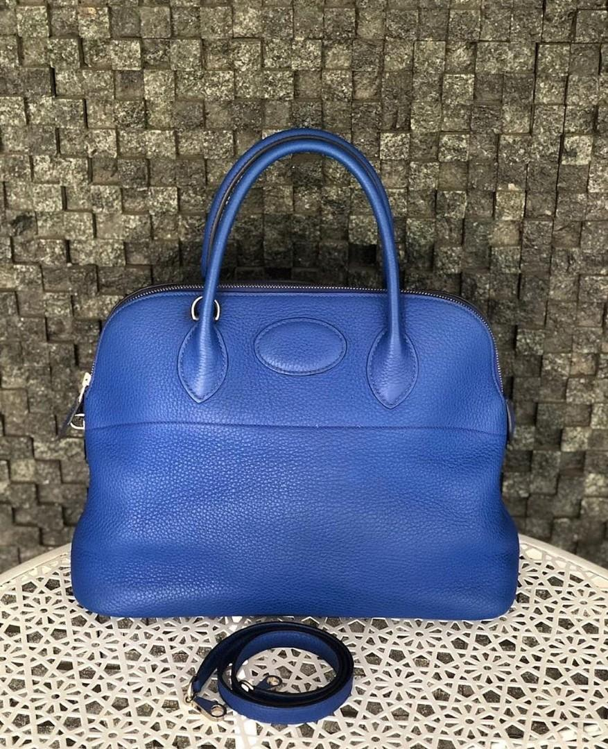 preloved Bolide35 Blue Electric Clemence PHW  Stamp P  35 x 14 x 27 cm  Strap & Dustbag