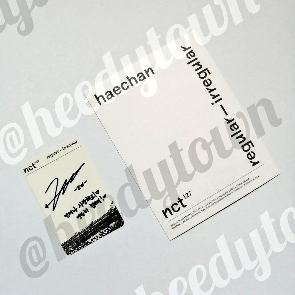 (READY STOCK) NCT127 - REGULAR-IRREGULAR (Regular Version) With JUNGWOO PC & HAECHAN Postcard