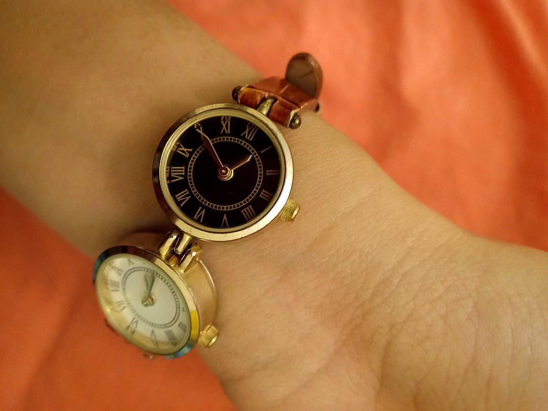 Selling this Two Faced Watch with Genuine Leather Brown Band