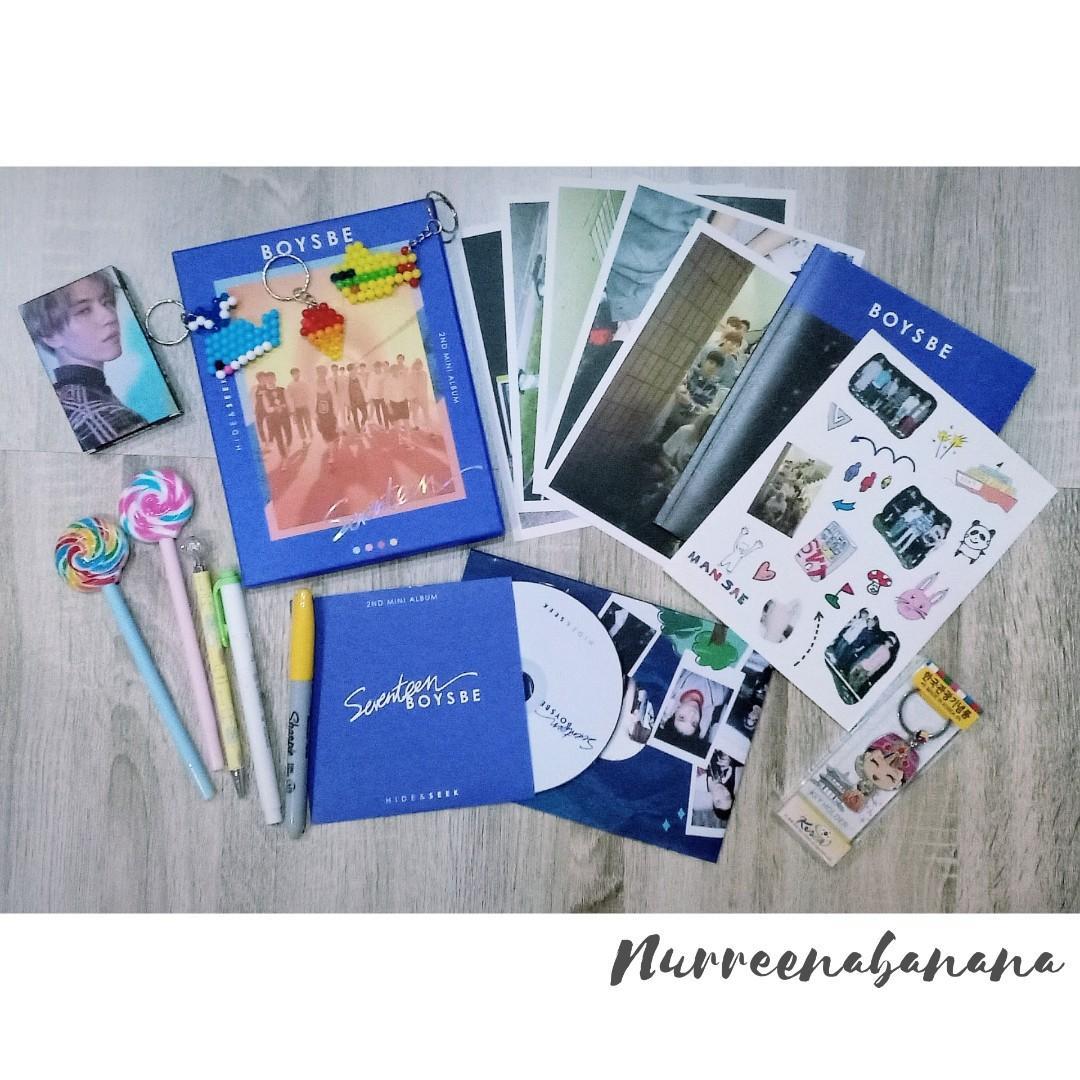 Seventeen Boys Be Seek Ver Album Full Set with Dino Photocard