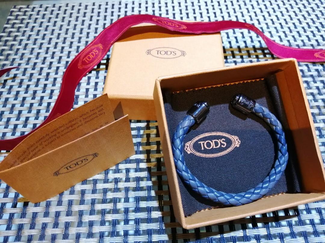 TOD'S 中性編織真皮手環