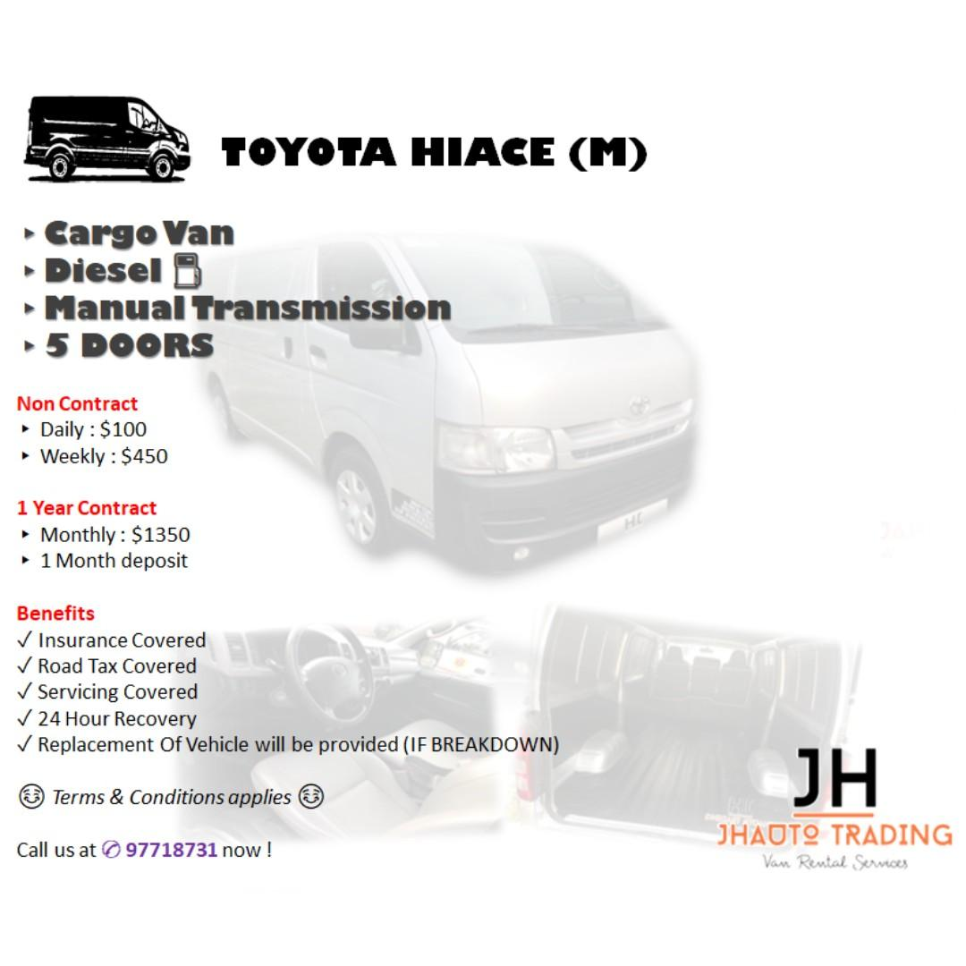 Toyota Hiace Euro 4 Van for Rent (AUTO)