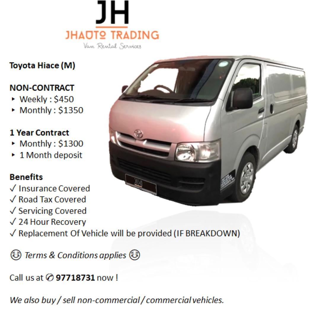 Toyota Hiace Euro 4 Van for Rent (AUTO)