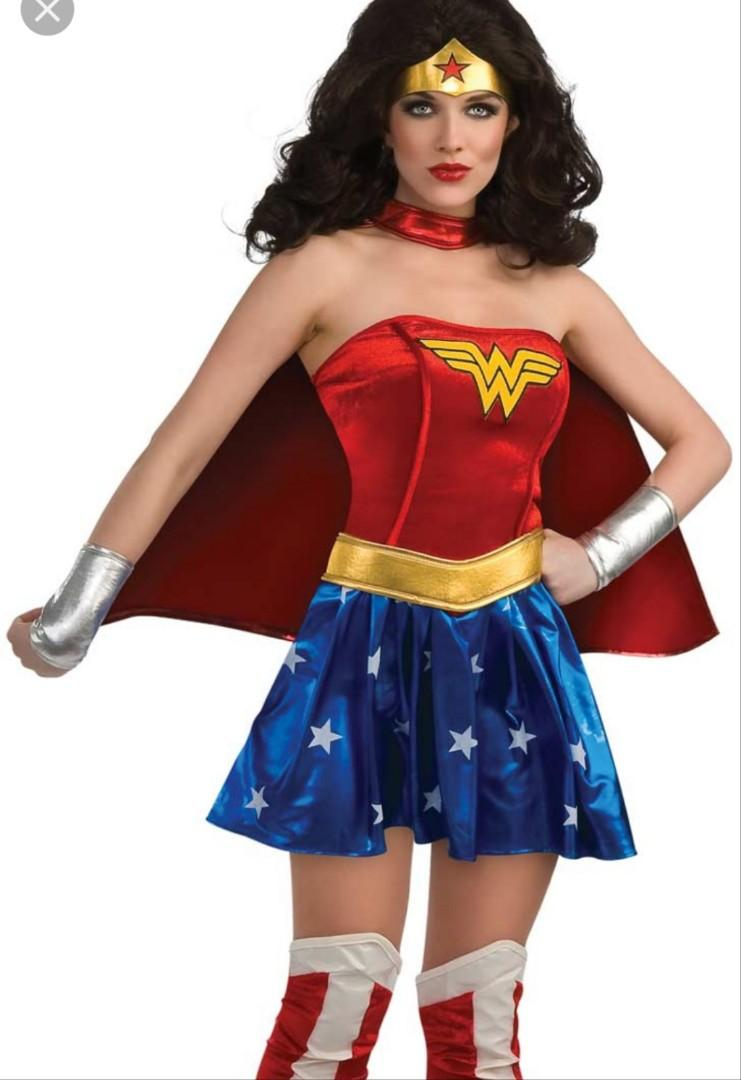 Wonder woman costume comes with belt shoe covers hearband wristbands