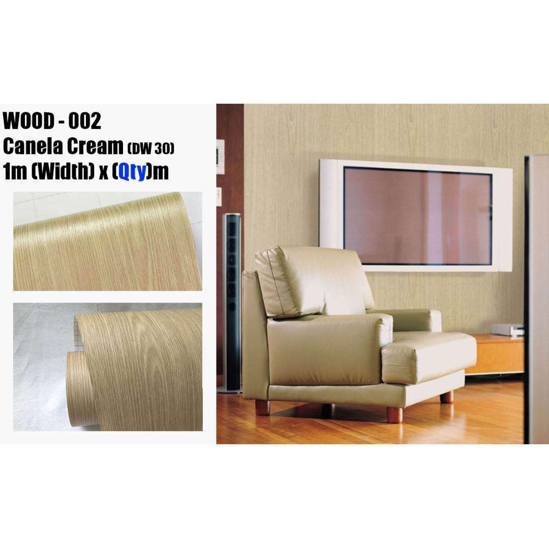 Wood Wall Design Wallpaper Cabinet Sticker Furniture Vinyl