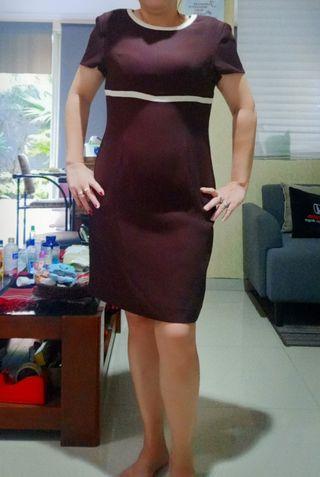 Dress Elicia coklat
