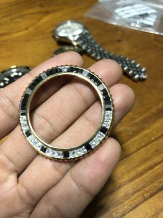Rolex solid 18k aftermarket bezel
