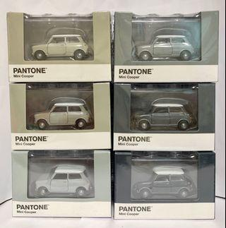 Tiny 微影 合金車 Mini Cooper X Pantone 灰色套裝