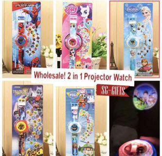 🚚 NEW⭐️ Kids Projector Watch 2 in 1 for Children's Birthday Party Giveaway Goodie Bag Children Day BELOW $3 Deal