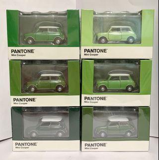 Tiny 微影 合金車 Mini Cooper X Pantone 綠色套裝
