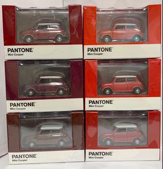 Tiny 微影 合金車 Mini Cooper X Pantone 紅色套裝