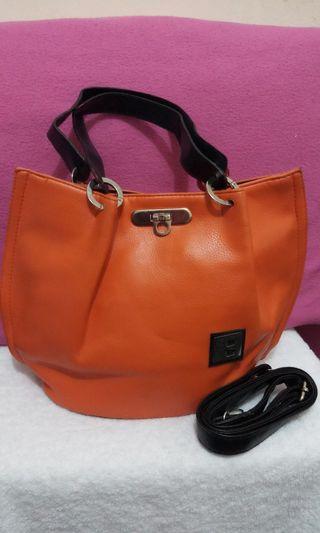 Preloved Fashion Orange Bag