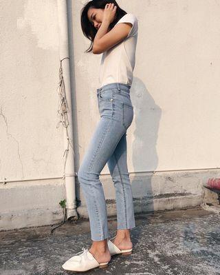 韓國直送 Moisture Retaining Jeans 超涼感高質牛仔褲 (size m 現貨)
