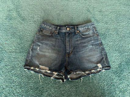 Uniqlo Distressed Denim Shorts