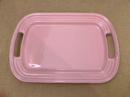 Le Creuset LC chiffon pink CP 粉紅色 bbq plate serving plate