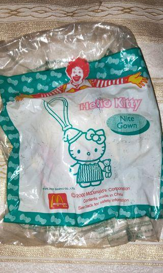 New Authentic Hello Kitty McDonald's Nite Gown Keychain