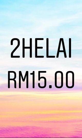 2Helai RM15.00