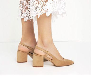 Zara blocked heels
