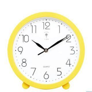 #AmplifyJuly35 [BNIB] Creative quartz clock -Yellow ( 10 inch Diameter) ,for Living /dinning /study/ Bed room