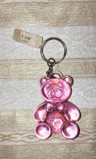 New Pink Bear Keychain