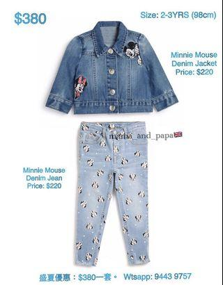 Minnie Mouse Denim Jacket and Jean